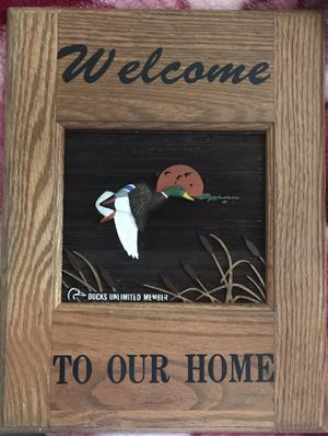 Culbertson's LTD Wooden Ducks Unlimited Welcome Sign for Sale in CHRISTIANSBRG, VA