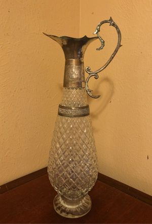 Antique cut glass decorative water pitcher for Sale in Katy, TX