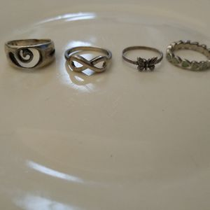 Sterling Silver Ring Lot Size 6 for Sale in Oklahoma City, OK