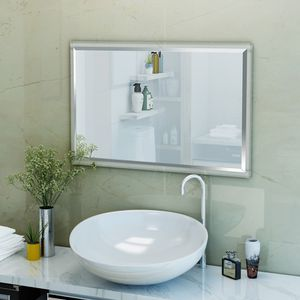 NEW Clear Acrylic Framed 36 x 24 Rectangle Wall Mirror for Sale in Miami, FL