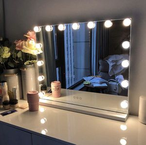 Large Vanity Mirror with Lights Makeup Mirror with 15 Dimmable LED Bulbs for Sale in Beverly Hills, CA