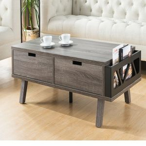 New Coffee Table With Two Big Drawers And Magazine Rack for Sale in Fullerton, CA