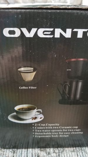 New 2 cup Ovente coffee maker for Sale in Yorkville, OH