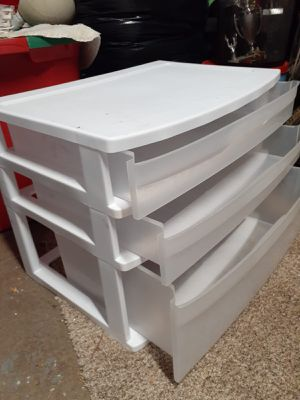 White plastic drawer for Sale in Cypress, TX