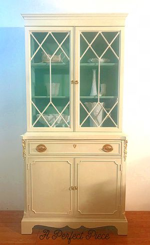 Refinished Vintage China Cabinet Hutch for Sale in Henryville, PA