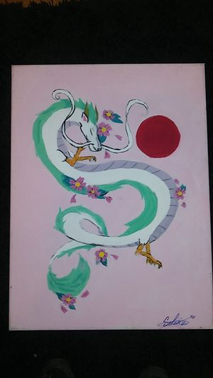 Japanese anime dragon (haku painting) for Sale in Chicago, IL
