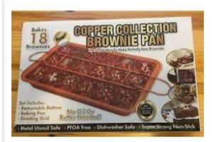 NEW Copper Collection Brownie Pan for Sale in Carrollton, TX