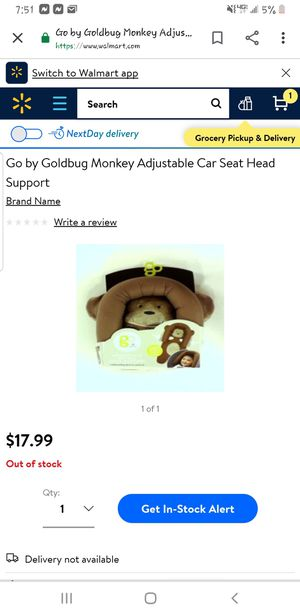 Adjustable car seat head for Sale in Valdosta, GA