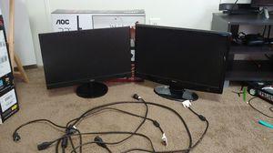 Dual 22in Monitors for Sale in Jacksonville, FL
