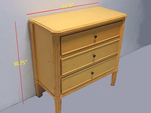 Yellow Rustic 3-Drawer Chest for Sale in Medley, FL