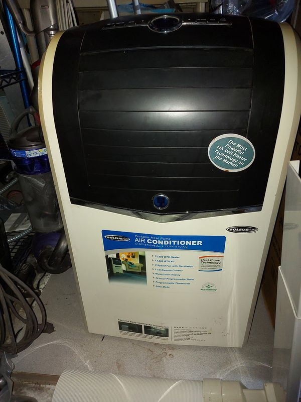 Soleus Air PH4-13R-01 13,000 BTU Portable Air Conditioner, 12,500 BTU Heater, Dehumidifier and Fan WITH REMOTE CONTROL and WINDOW KIT