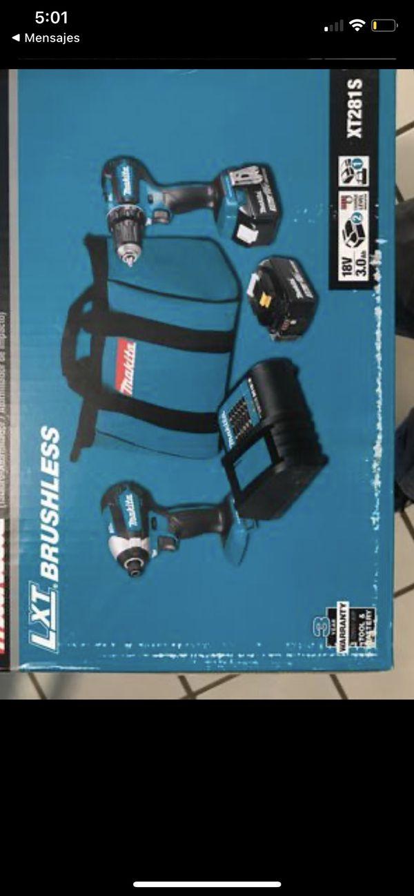Makita-XT281S 18V LXT Brushless Drill & Impact Combo Kit