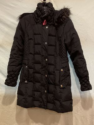 Betsey Johnson black down hooded parka (S) for Sale in Burr Ridge, IL