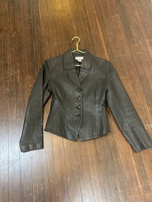 Black Leather Jacket, w/patches, Harley Davidson for Sale in Duncanville, TX