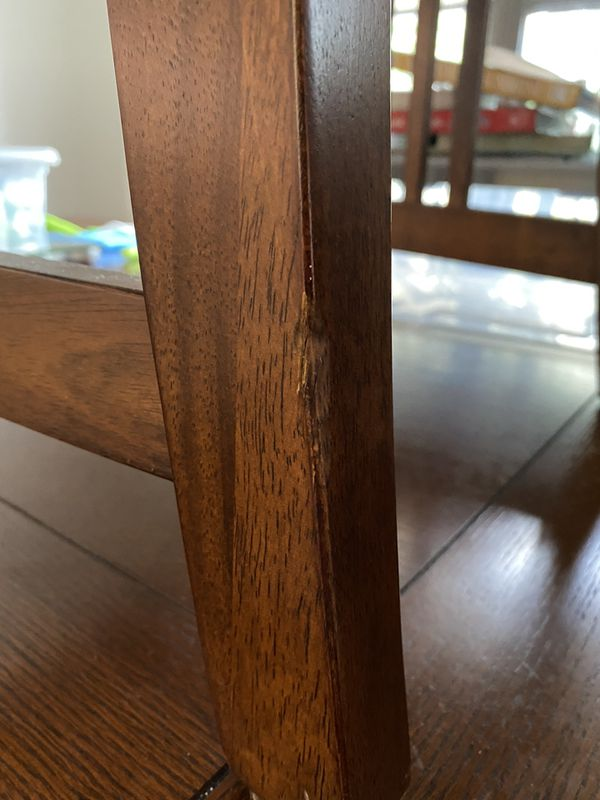 Dining Room Table W Leaf 4 Matching Chairs For Sale In