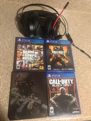 Ps4 games w headset for Sale in Lebanon, TN