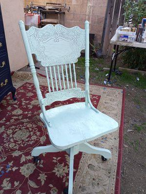 Pastel green solid wood vintage office chair for Sale in San Bernardino, CA