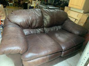 Leather sofa love seat for Sale in Leavenworth, WA
