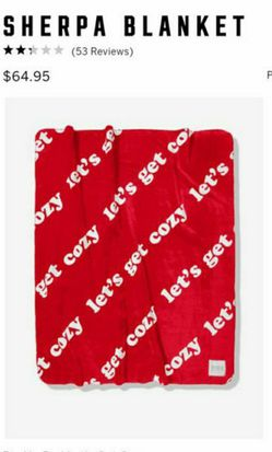 PINK COZY SHERPA BLANKET -RED for Sale in West Covina,  CA