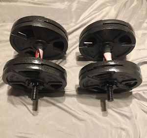 2 x 40 lb. adjustable Dumbbells for Sale in Lebanon, PA