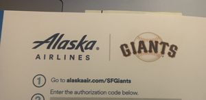 Alaska airlines | Sf giants travel voucher - 2 for 1 deal . for Sale in Livermore, CA