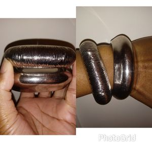 2 faux silver bracelets for Sale in New York, NY