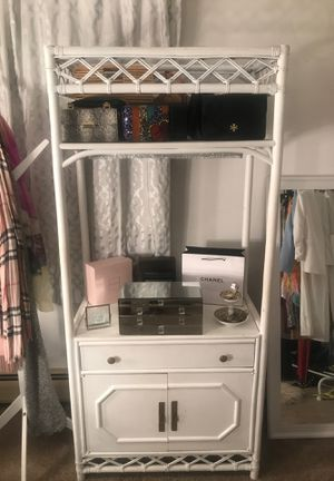 Classy white storage/shelving unit. for Sale in Pepper Pike, OH