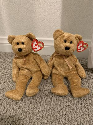 "Ty beanie baby bear ""cashew"" x2 for Sale in Menifee, CA"