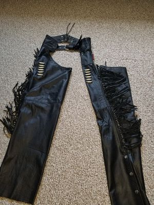 Ladies leather Motorcycle Riding Chaps for Sale in Meriden, CT