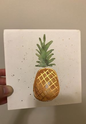 Farmhouse Pineapple Gold print - wood frame!!! for Sale in Phoenix, AZ