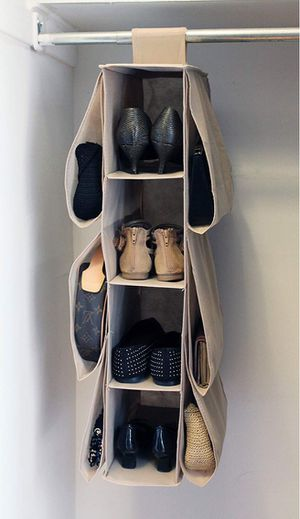 New in box closet storage organizer shoe purse easy to attach or install for Sale in Santa Fe Springs, CA