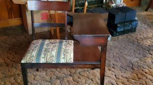 Antique telephone table solid wood for Sale in Alpharetta, GA