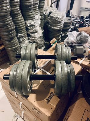 Custom size adjustable dumbbells ($2 per pound and cost of handles) for Sale in Davie, FL