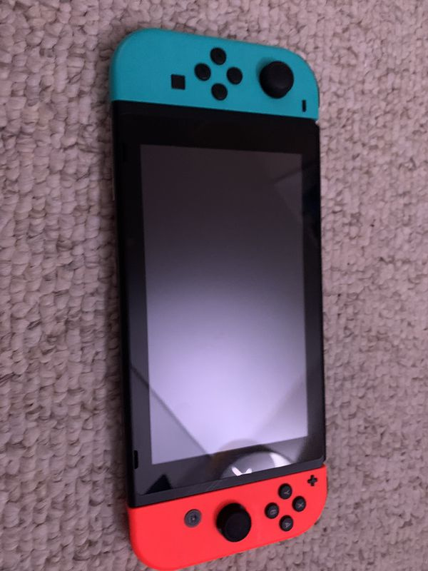 Blue and red nentendio switch 16 GB