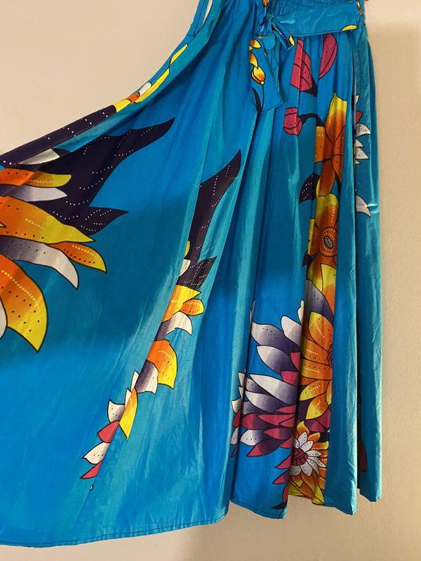 Garden African inspired skirt long with belt