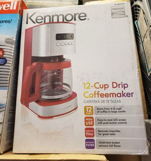 Kenmore 12-cup Programmable Coffee Maker, Red for Sale in North Las Vegas, NV