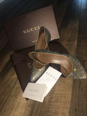 Gucci Beige Crystal D'orsay High Heel Sz 39 for Sale in Dallas, TX