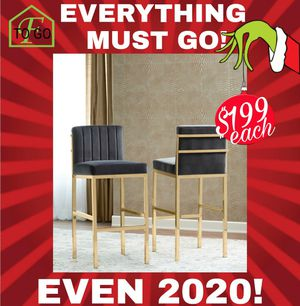 Gray velvet bar stool for Sale in Dallas, TX