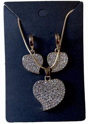 Heart Shaped Earring & Pendant for Sale in Aldie, VA