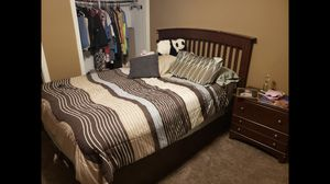 Queen Bed Frame with mattress included for Sale in Marion, AR