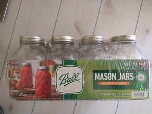 Ball Mason Jars 32 ounce 12 Jars Lids Bands New for Sale in Fort Worth, TX