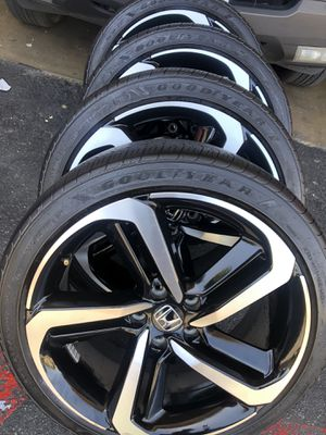 Rims tires 19x8,5 5x114.3 fit Honda Accord sport civic for Sale in Santa Ana, CA