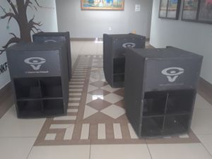 """6 bass subwooffer: speakers cerwin vega 18"""" LR 36 peak power: 1500 watts all passive great conditons .with break swich $460 each or price for all!! for Sale in Lake Worth, FL"""
