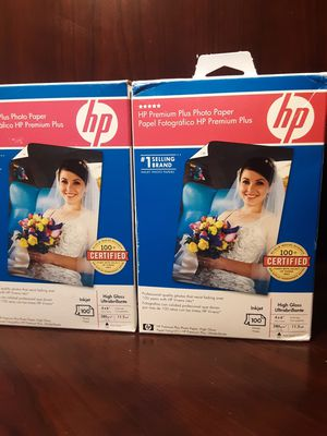 Hp premium plus photo paper for Sale in Brentwood, CA