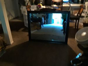 big mirror with dark brown frame for Sale in Fullerton, CA