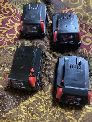 4 Milwaukee batteries m18 brand new for Sale in El Cajon, CA