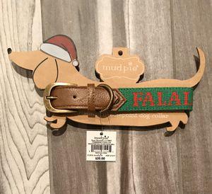 "NEW - Mud Pie, Christmas, ""FA LA LA"", Needlepoint Dog Collar for Sale in Lincoln, NE"