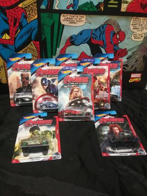 Avengers Hot Wheels Set of 8 Hulk Captain America Thor for Sale in Alameda, CA