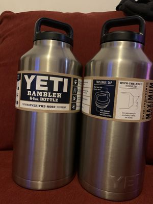 Yeti Rambler 64oz Stainless bottle $52 each for Sale in The Bronx, NY