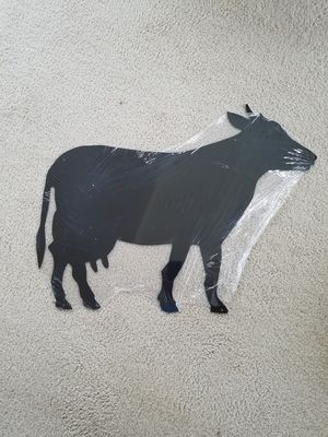 Used, Dairy beef cow cattle silhouette steel metal sign for Sale for sale  Vancouver, WA